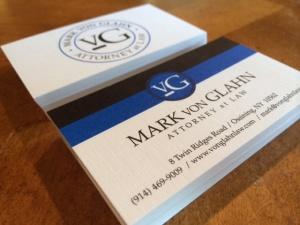 Mark von Glahn business cards